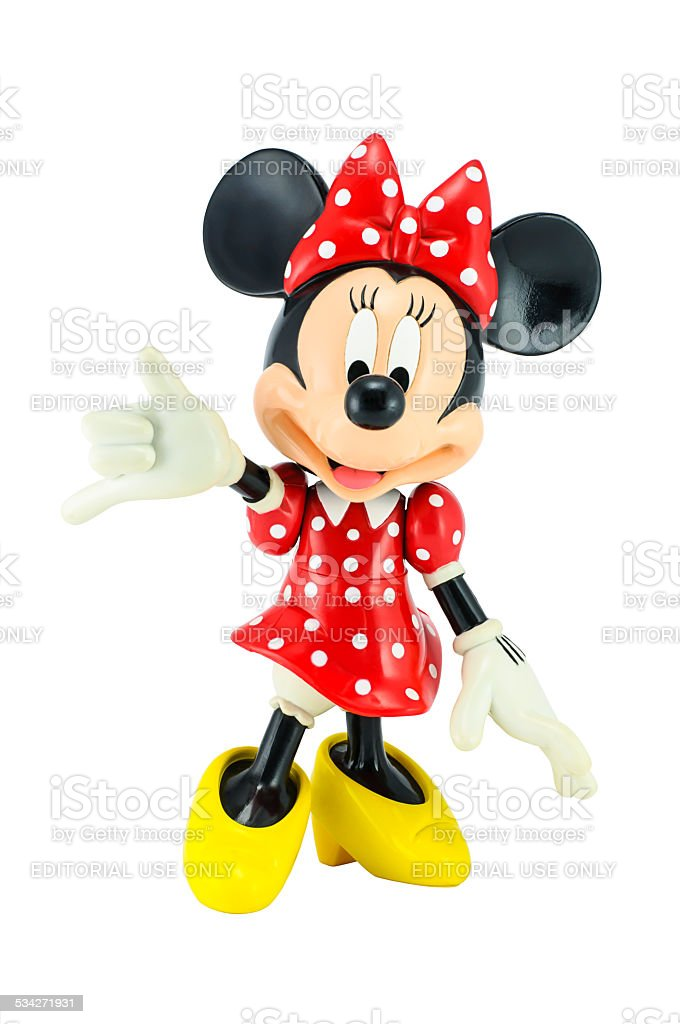 Minnie mouse from Disney character. stock photo