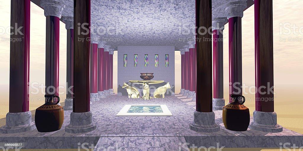 Minoan Temple stock photo