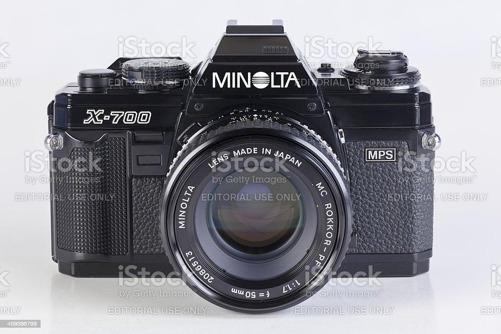 Minolta X-700 SLR Film Camera stock photo