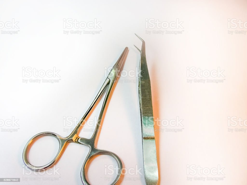 Minor Surgery Instruments on the table. stock photo
