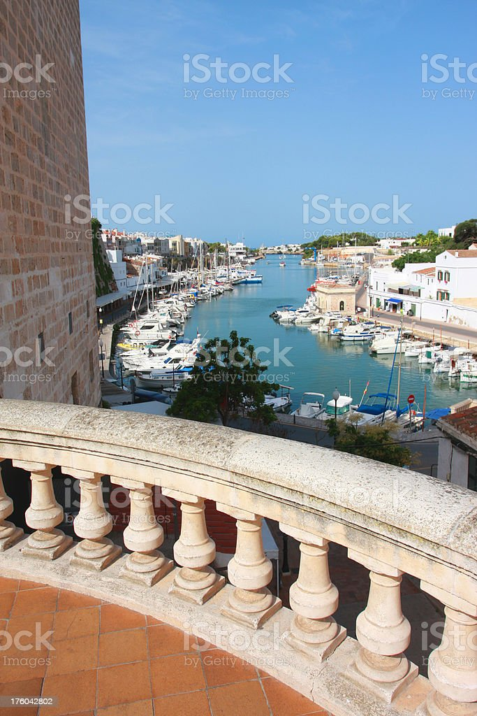 Minorcan viewpoint stock photo