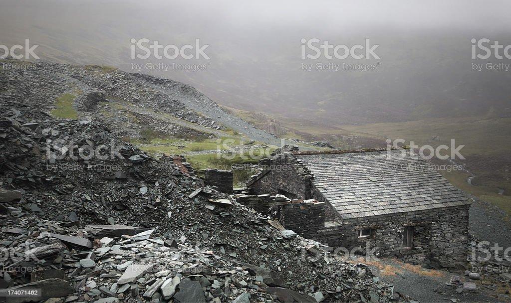 Minors hut stock photo