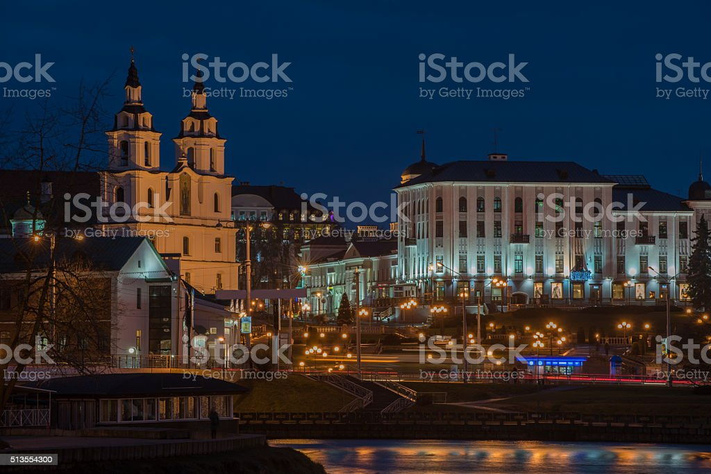 Minsk, Belarus: Orthodox cathedral of the Holy Spirit stock photo