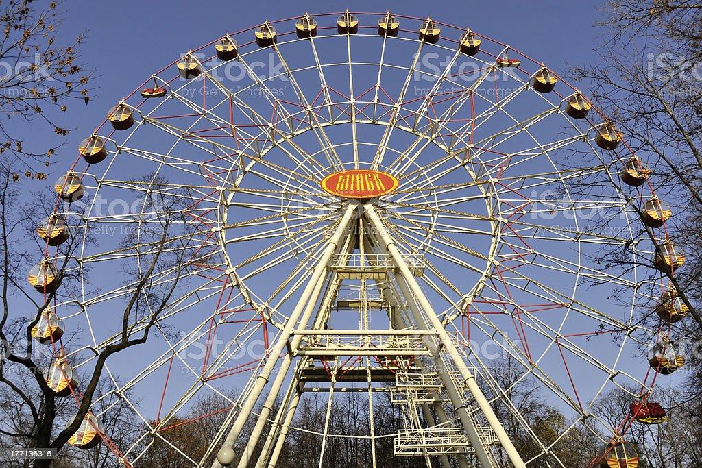 Minsk ferris wheel stock photo