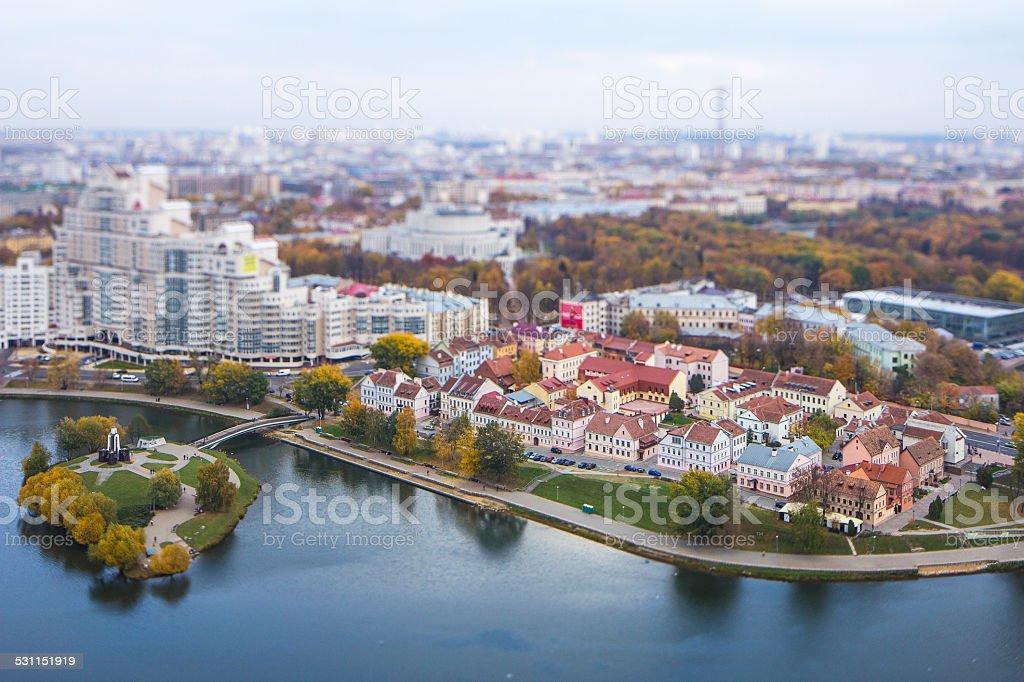 Minsk Miniature.Trinity Suburb stock photo