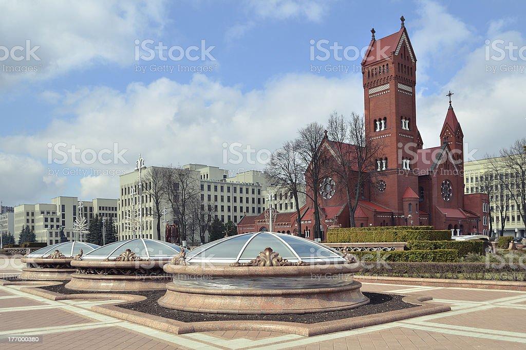 Minsk square stock photo