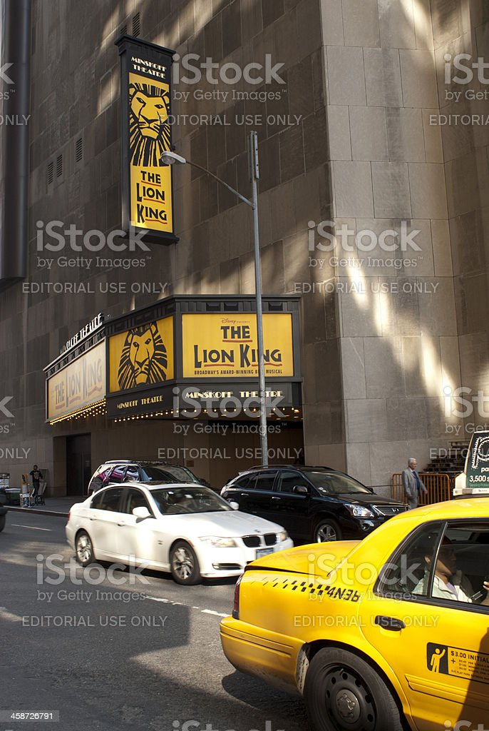 Minskoff Theater royalty-free stock photo