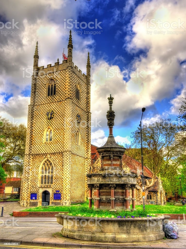 Minster Church of St Mary the Virgin in Reading, England stock photo