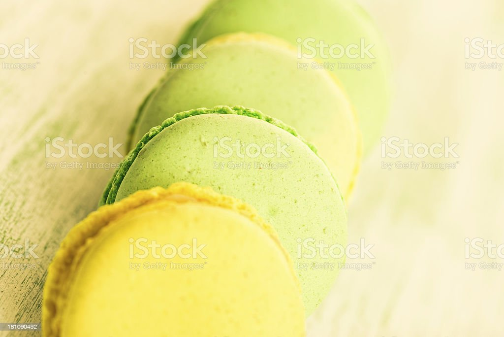 Mint And Lemon Macaroons royalty-free stock photo