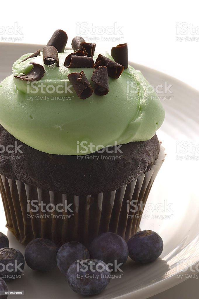 Mint Cupcake royalty-free stock photo