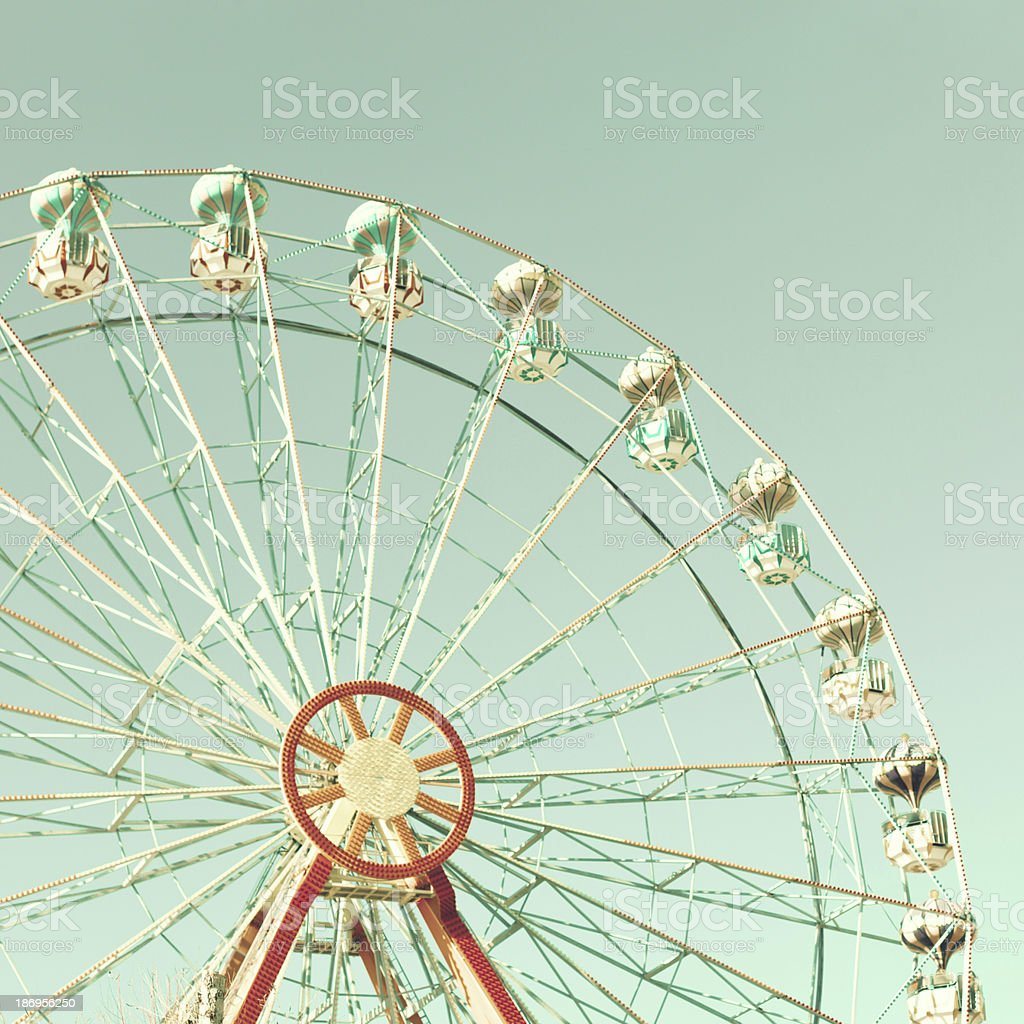 Mint Ferris Wheel stock photo