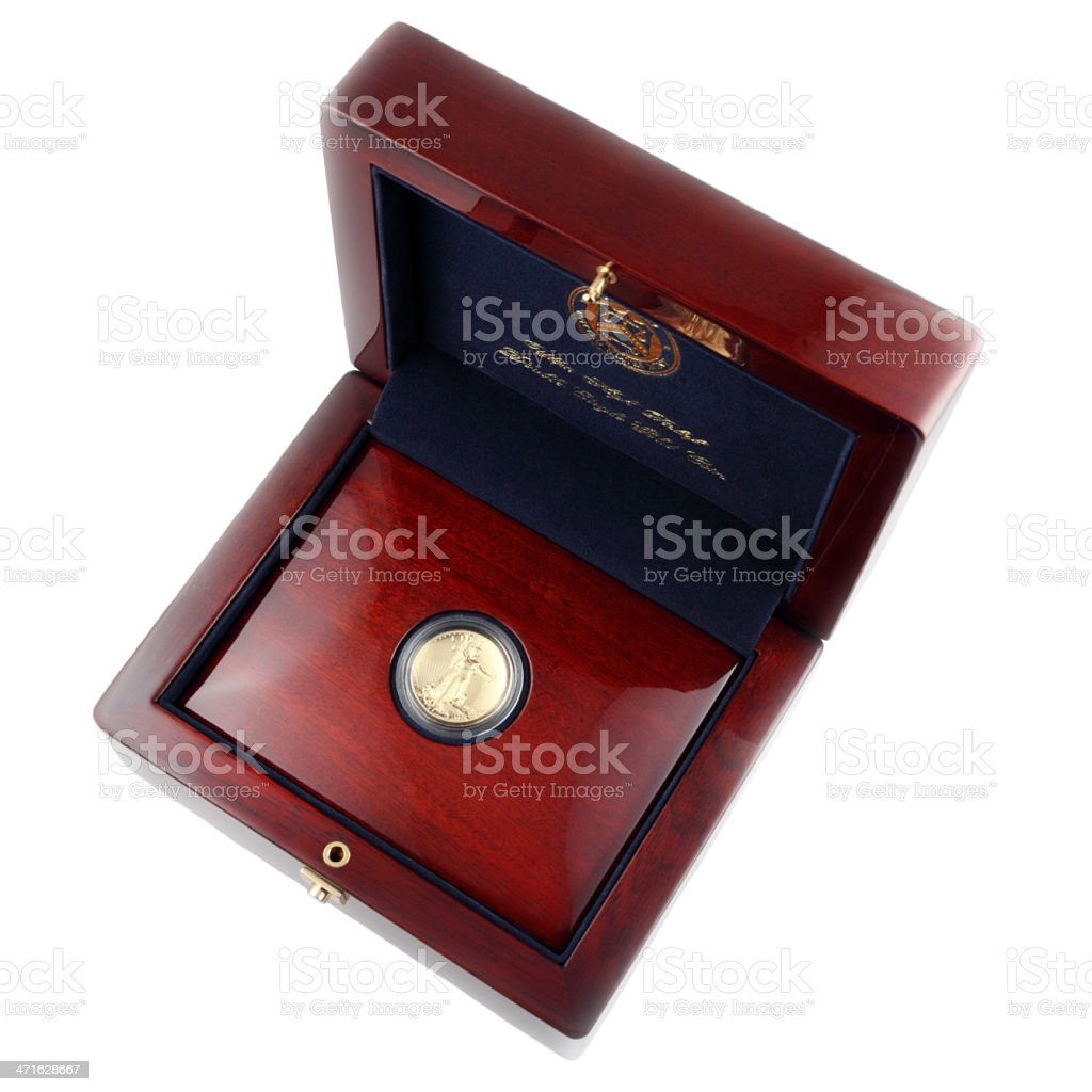 US Mint Gold Coin stock photo