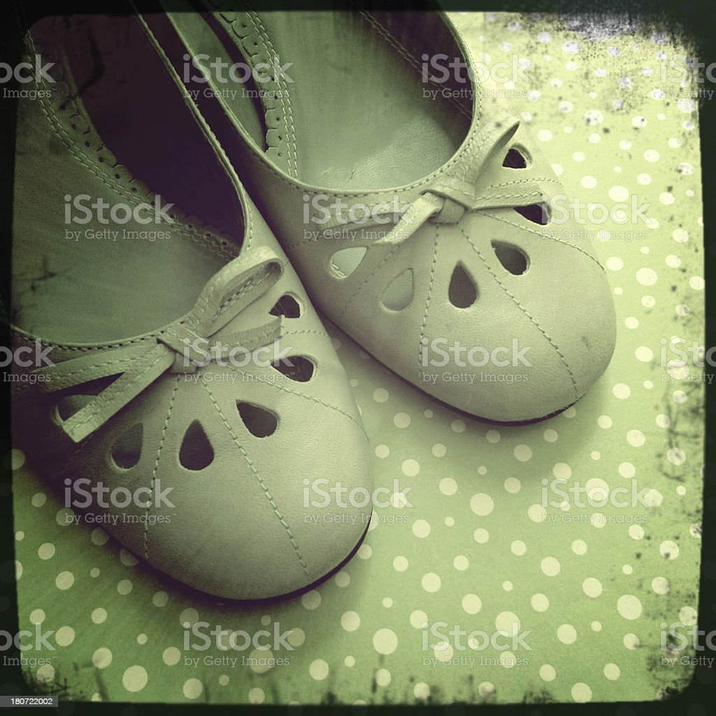 Mint green shoes royalty-free stock photo