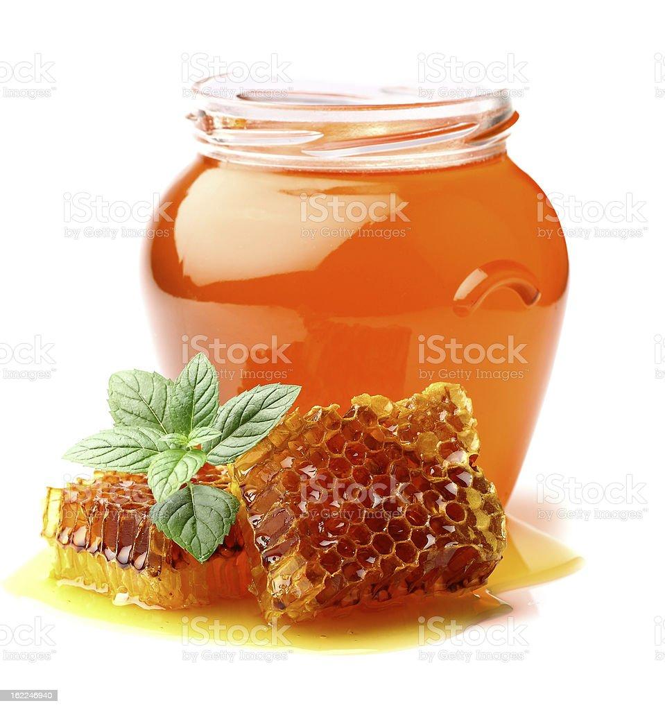 Mint honey royalty-free stock photo