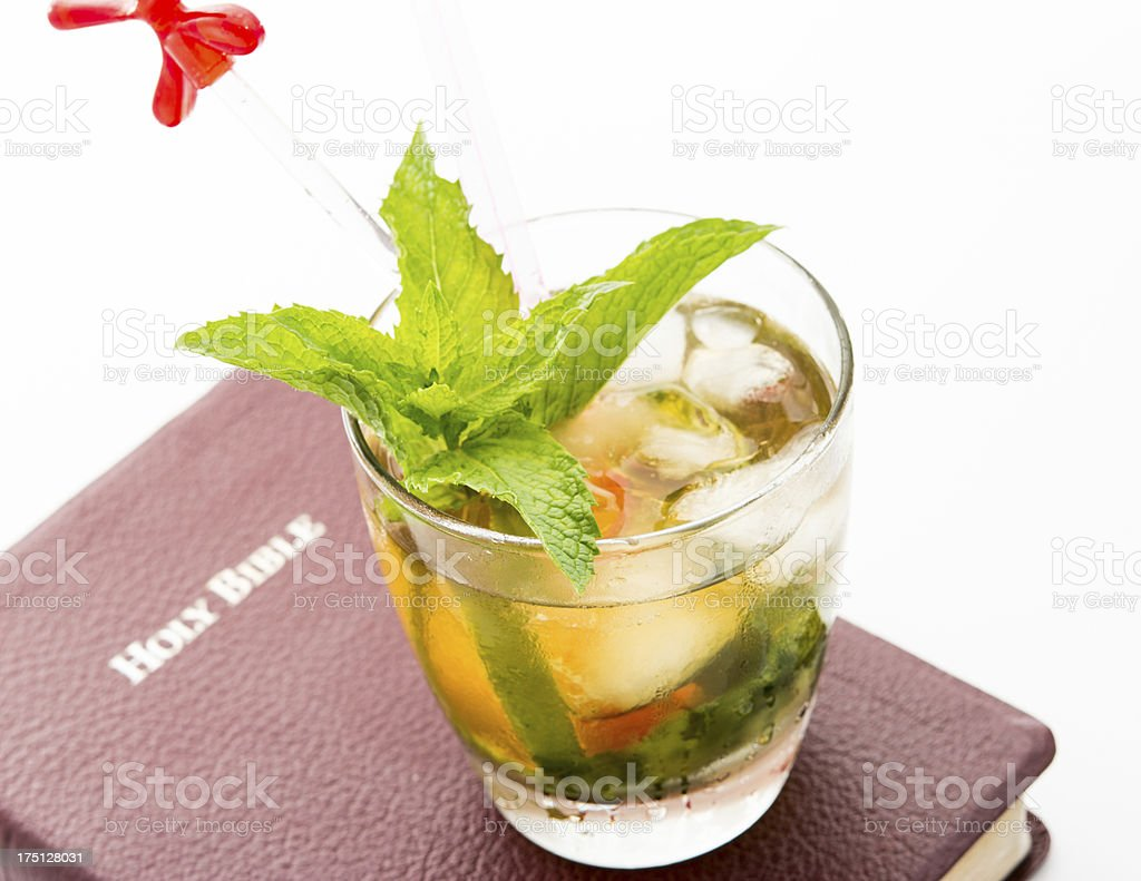 Mint Julep and Bible royalty-free stock photo