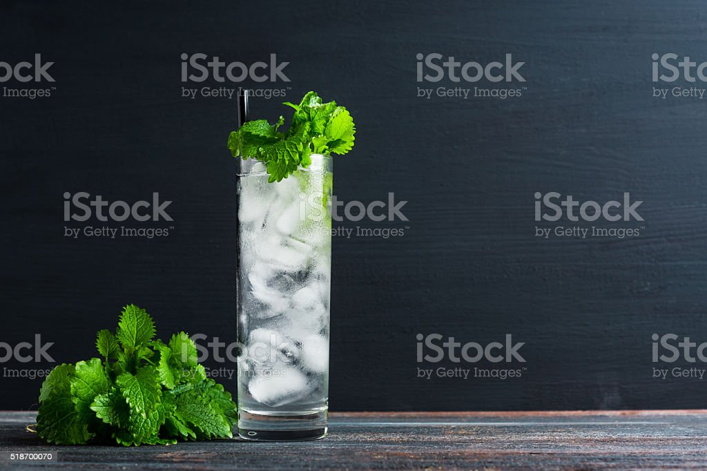 Mint julep in glass stock photo