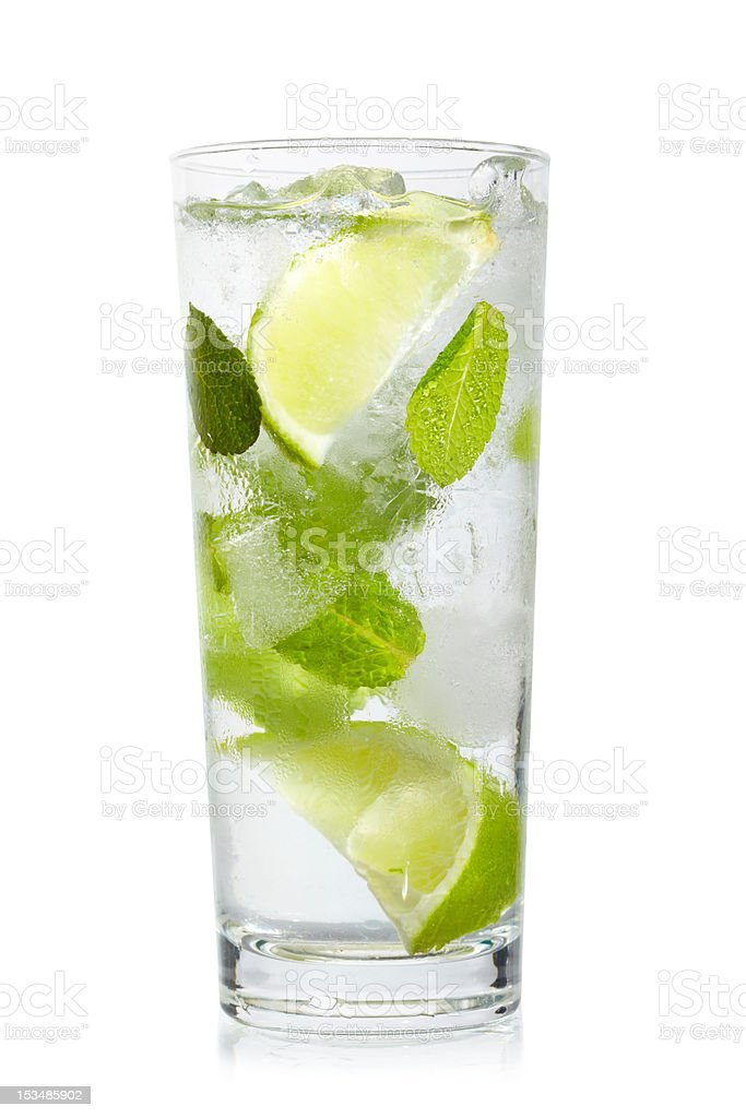 Mint, lime ice vodka royalty-free stock photo
