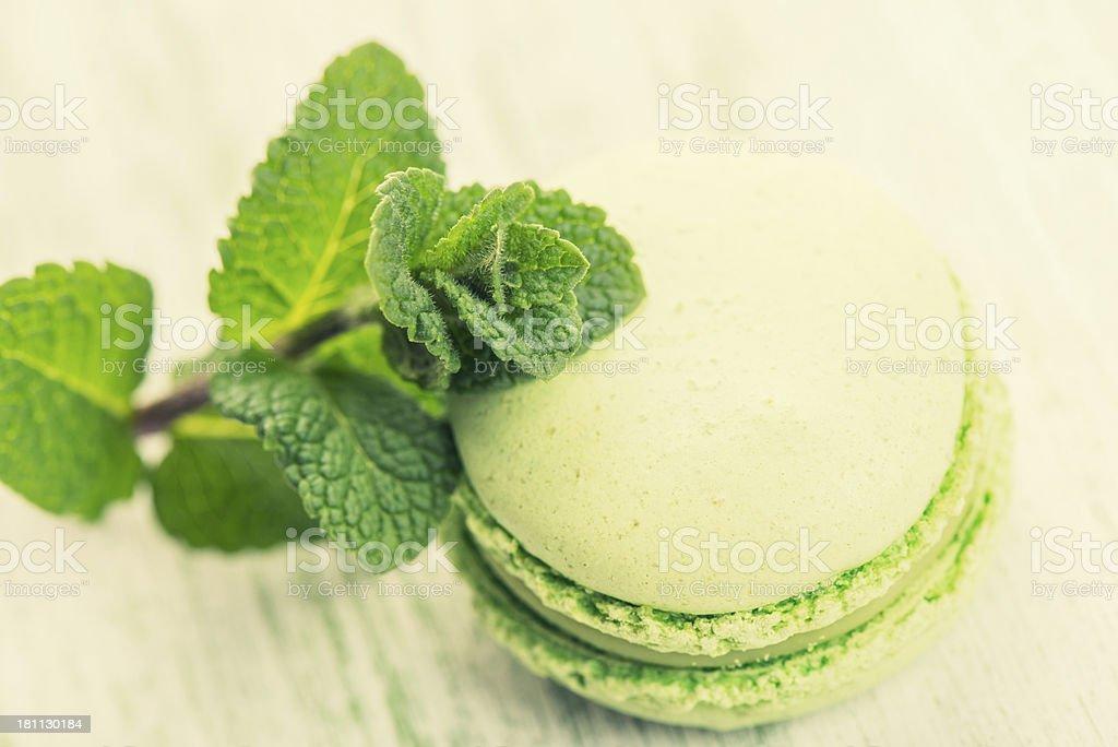 Mint Macaroon stock photo