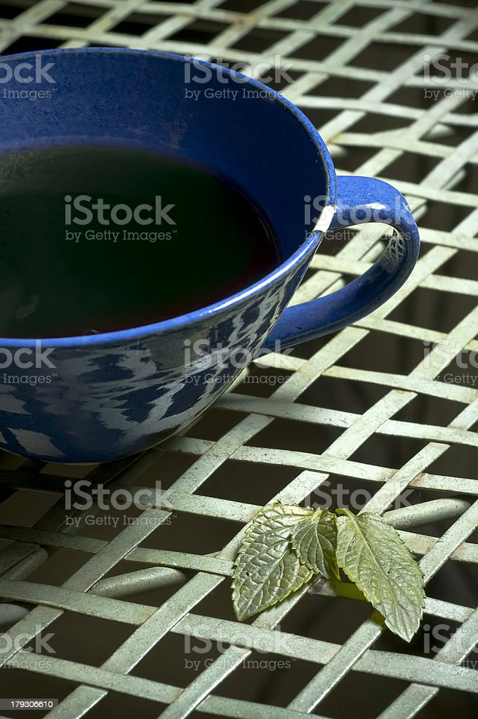 mint tea cup royalty-free stock photo