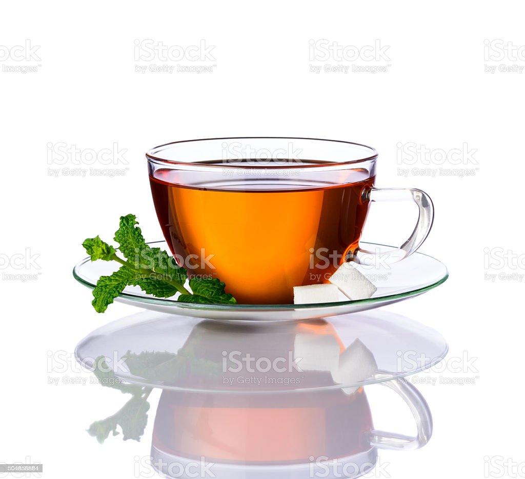 Mint Tea Isolated on White stock photo