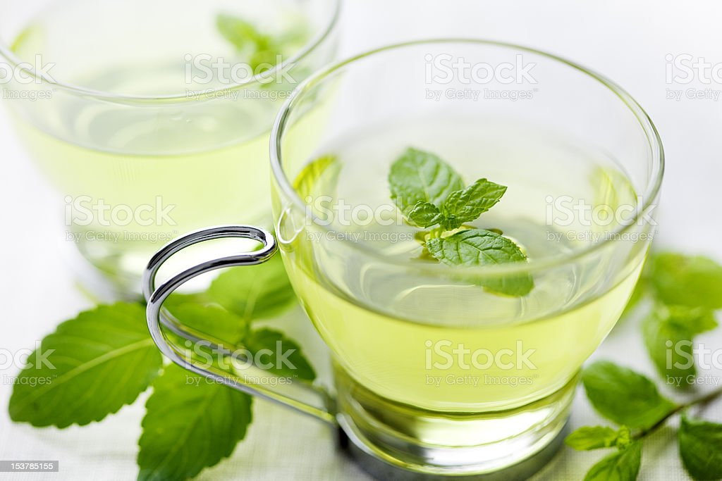 mint tea stock photo