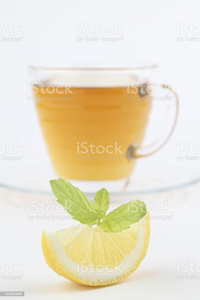 Mint tea with lemon royalty-free stock photo