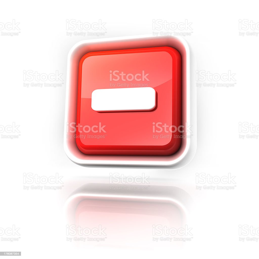 minus or no entry icon royalty-free stock photo