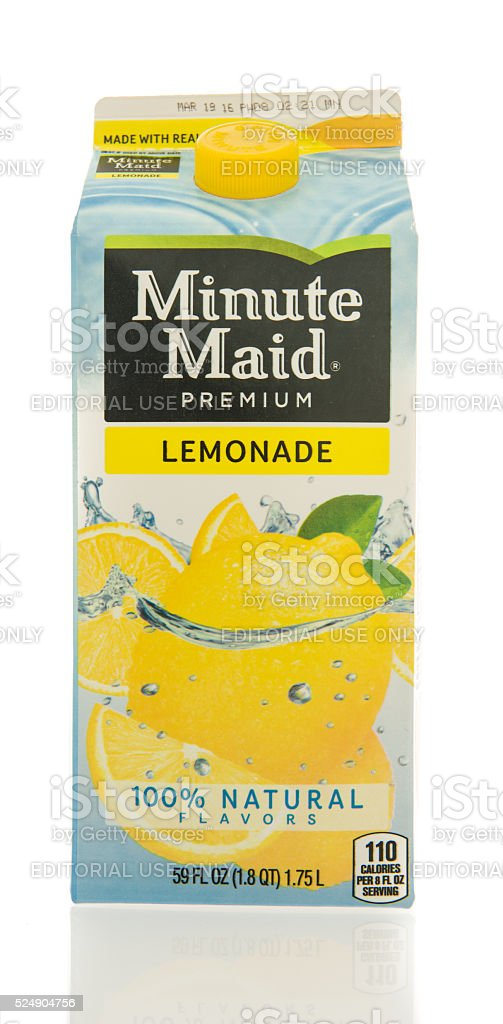 Minute Maid Lemonade stock photo