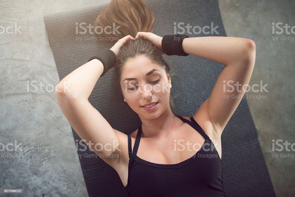 Minute of rest stock photo