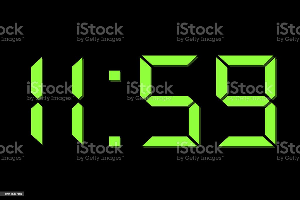 minute to 12 royalty-free stock photo