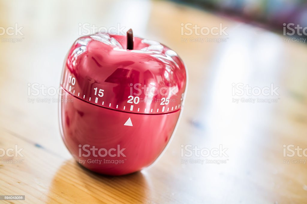 20 Minutes - Kitchen Egg Timer In Apple Shape stock photo