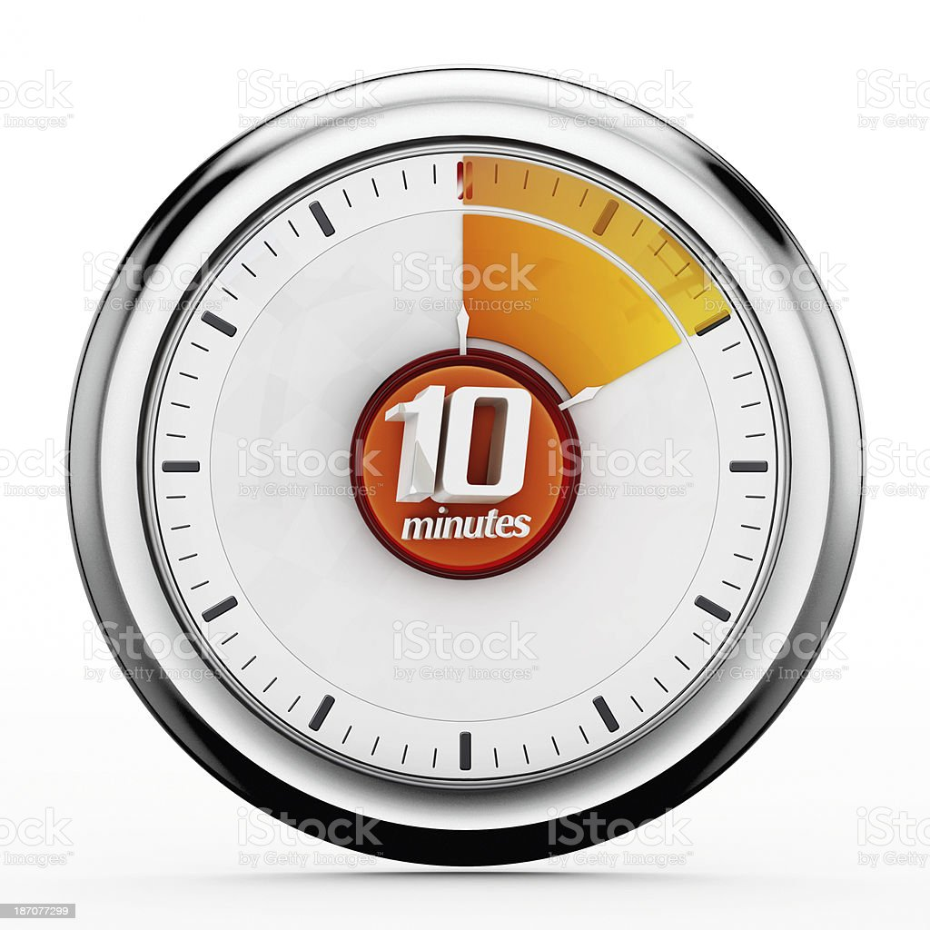 10 minutes timer stock photo