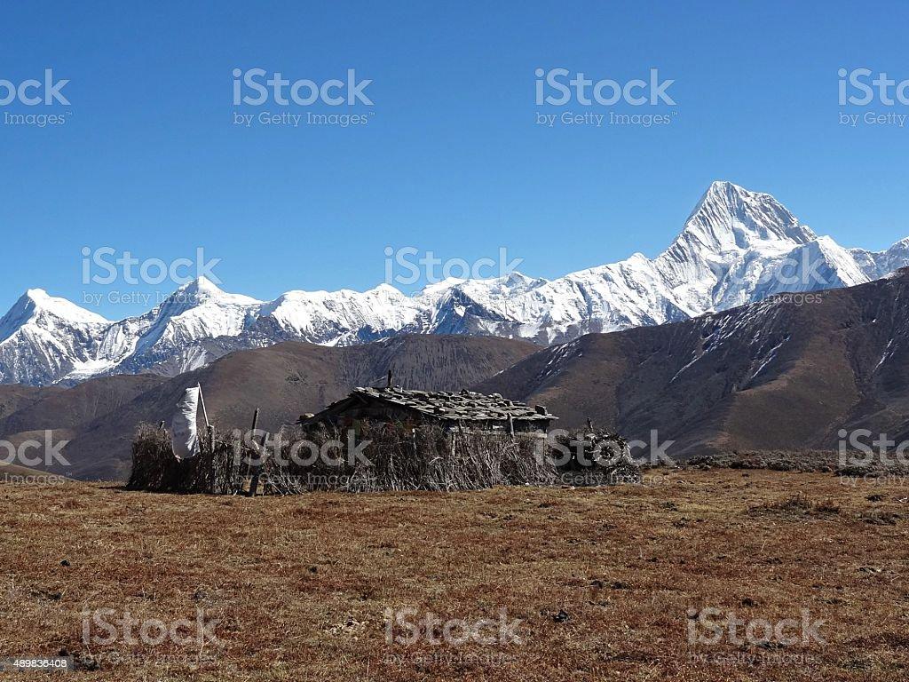 Minya Konka (7556 m), Tibet, China stock photo