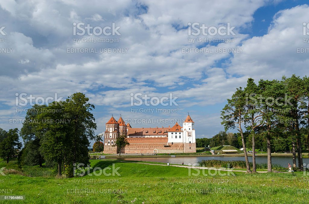 Mir Castle Complex, Belarus stock photo