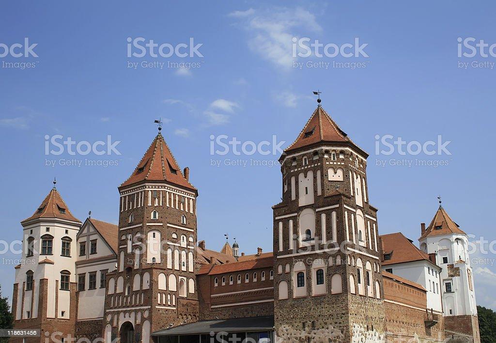 Mir castle in Belarus stock photo