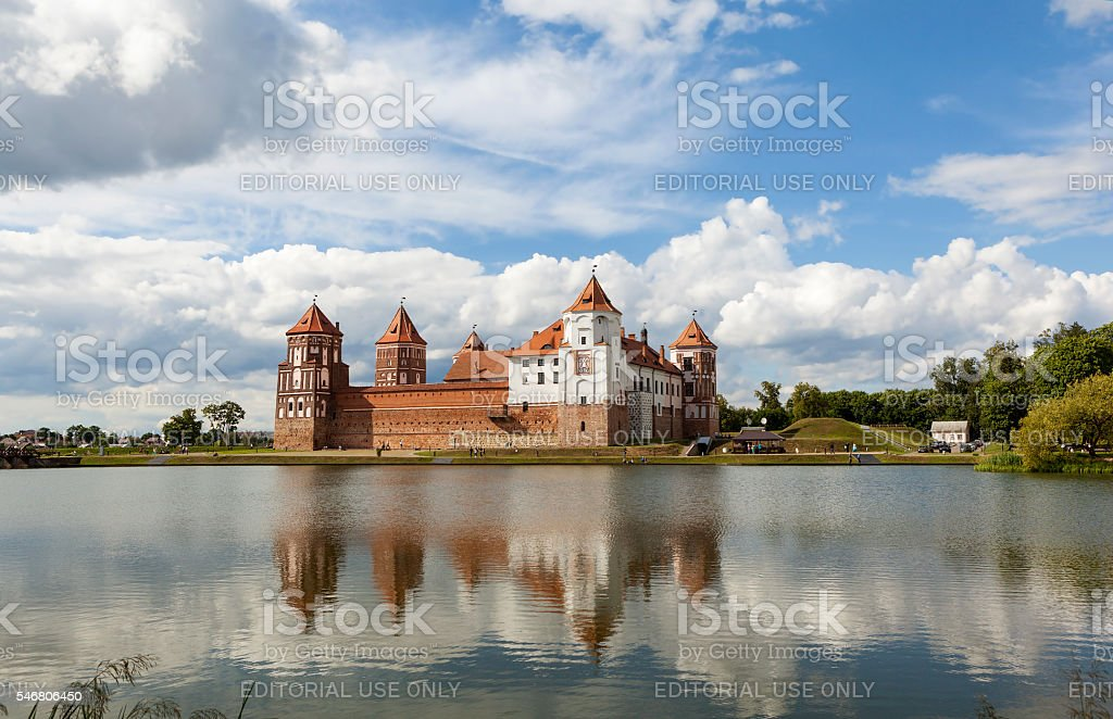 Mir Castle. Urban settlement Mir. Belarus stock photo
