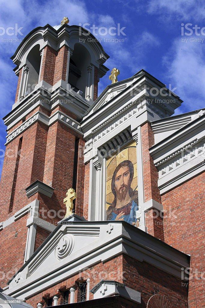 Mir Chapel (close up), Belarus stock photo
