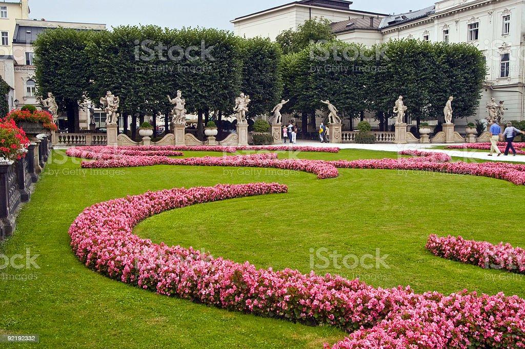 Mirabell Garden royalty-free stock photo