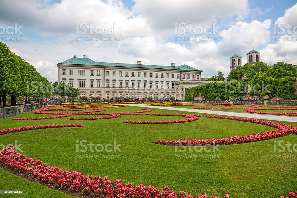 Mirabell Garden, Salzburg stock photo