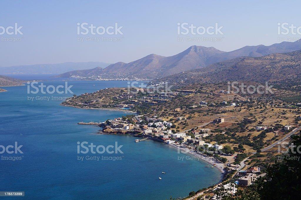 Mirabella Bay (Elounda) in Crete stock photo