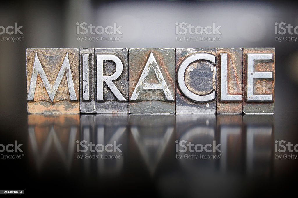 Miracle Letterpress stock photo