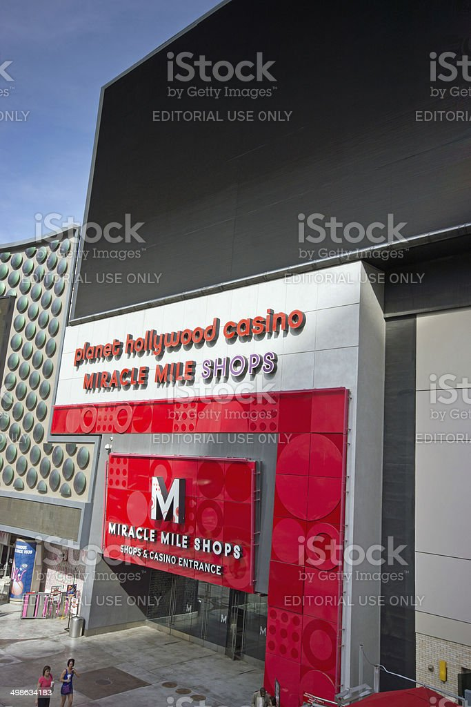 Miracle Mile mall entrance stock photo