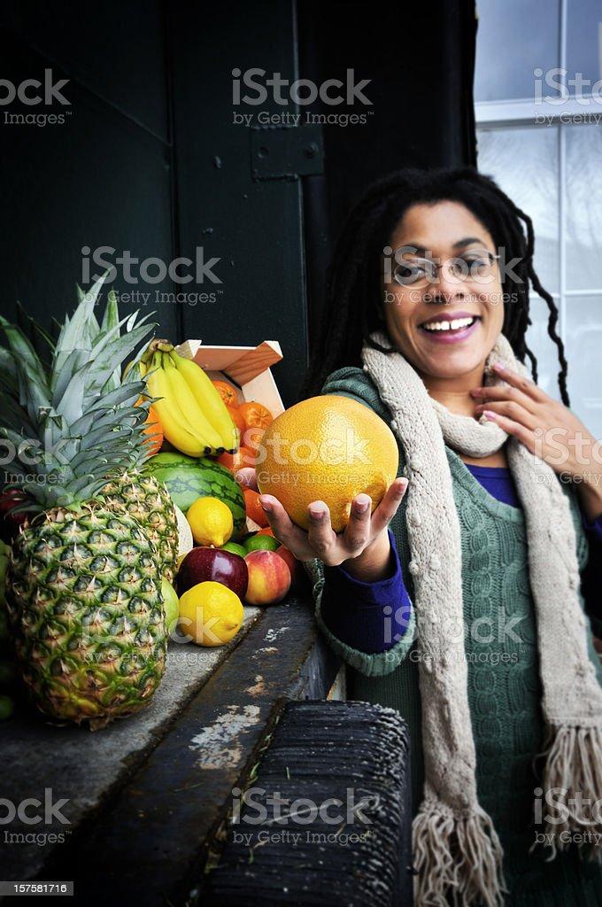 Miracle of Fresh Fruit Transportation stock photo