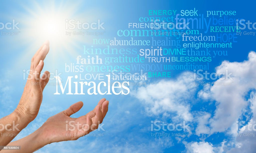 Miracle Worker Word Cloud stock photo