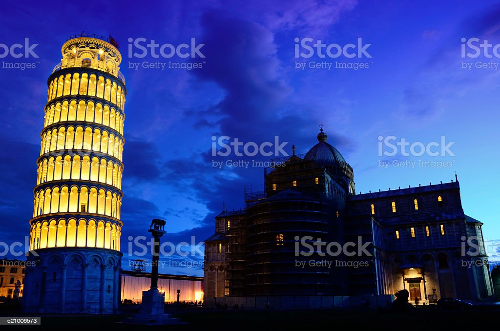 Miracles Square of Pisa stock photo