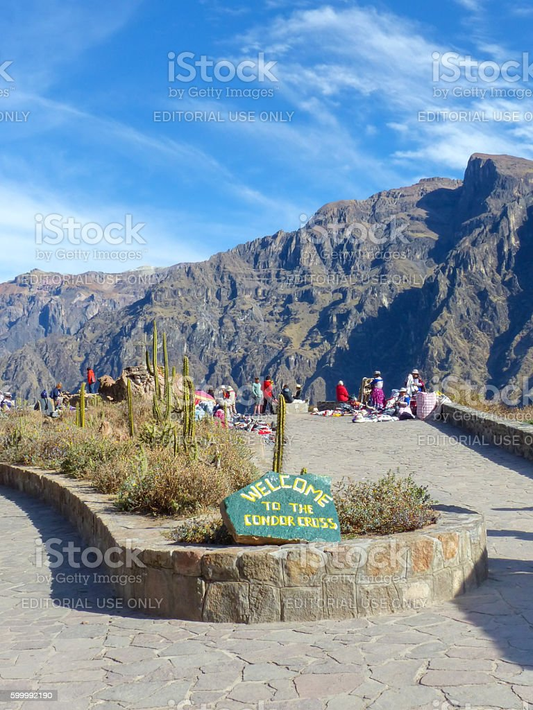 Mirador Cruz del Condor in Colca Canyon, Peru stock photo
