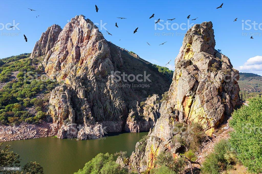 Mirador del Salto del Gitano in Monfrague National Park, Spain stock photo
