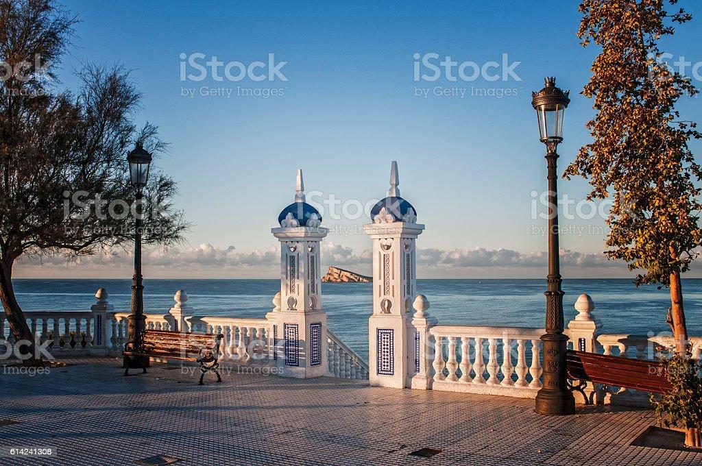 mirador,benidorm,tabarca,turismo stock photo