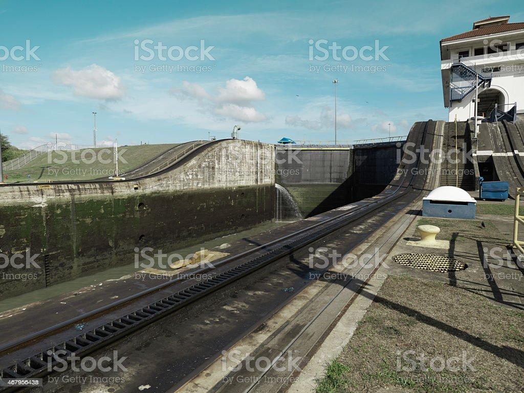 Miraflores Locks at Panama Canal, Panama stock photo