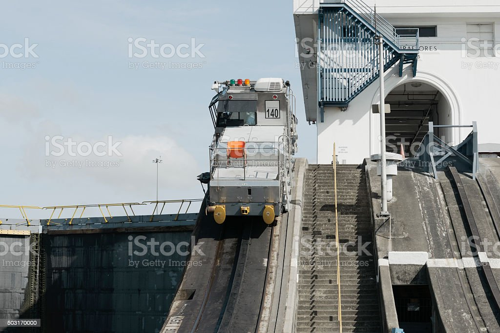 Miraflores Locks at Panama Canal, Panama stock photo